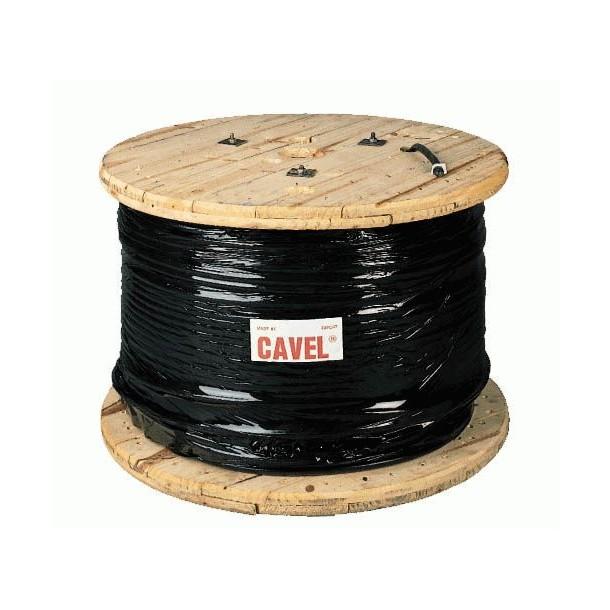 Jordkabel, sort, PEG, 1x700m, trætromle DKT 34/145 FC