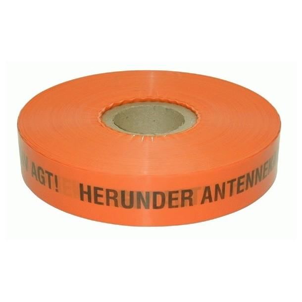 Advarselsbånd 0.1mm, Orange, 0.05x500m