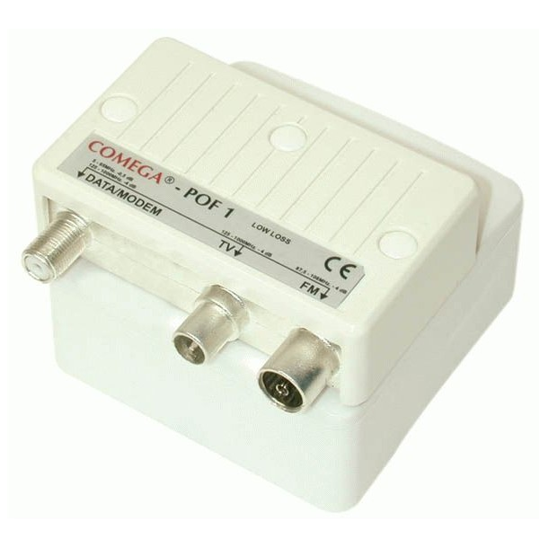 Push-on box for outlets, TV/DATA filter POF 1-10