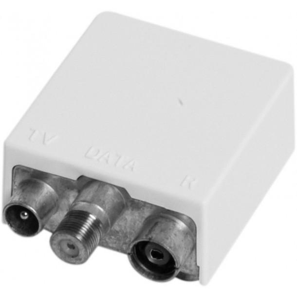 Push-on box for outlets, TV/DATA filter FREJA POF1-4
