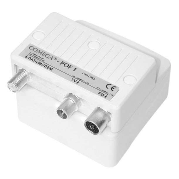 Push-on box for outlets, TV/DATA filter POF-B 1-4