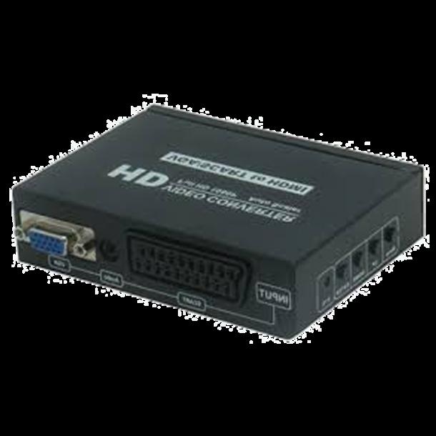 VGA/SCART til HDMI Converter