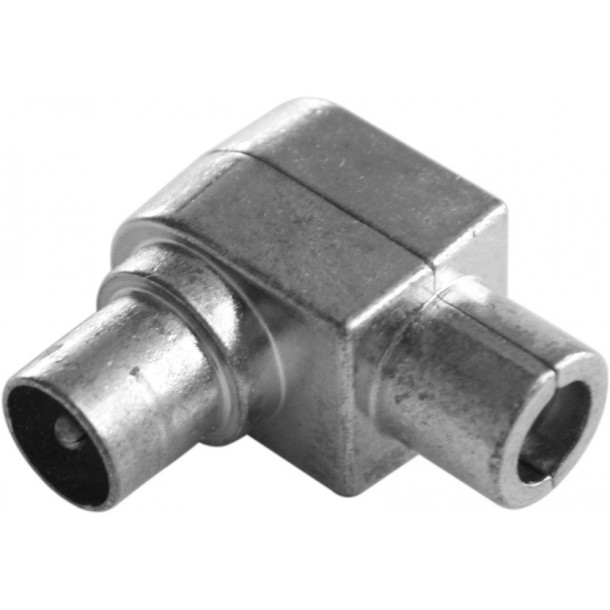 IEC konnektor, han, vinkel, metal IM-DIY-A