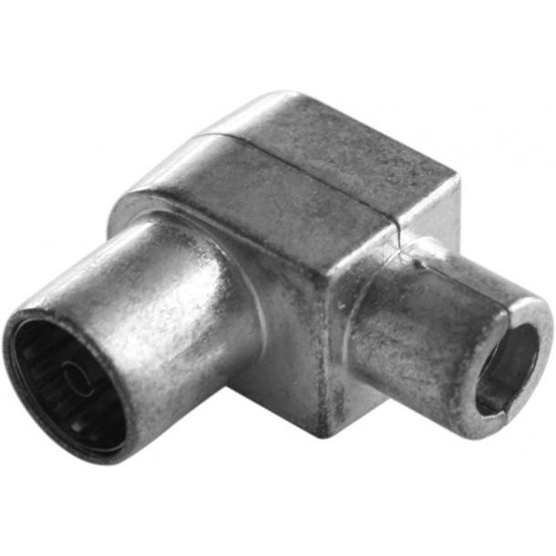 IEC konnektor, hun, vinkel, metal IF-DIY-A