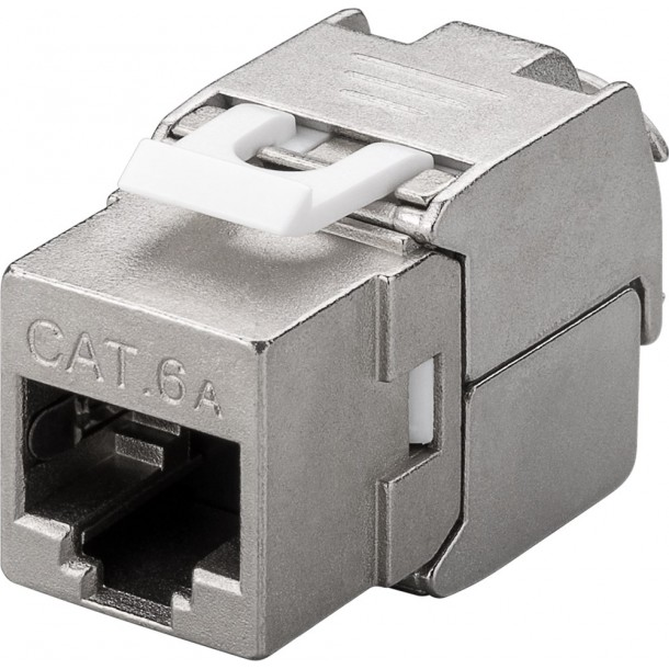 Cat 6A STP keystone tool-less