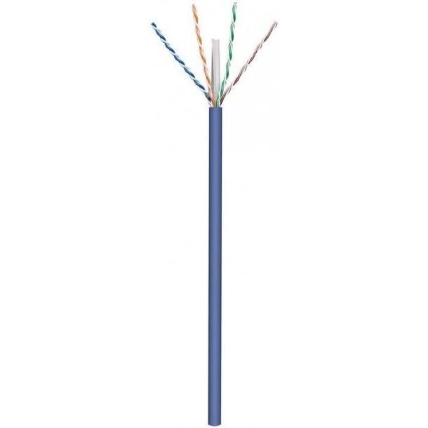 Cat6a, U-UTP, kabel, LSZH, AWG23, blå, 305m