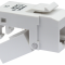 EZ-SnapJack  RJ45, keystone, CAT6, hvid